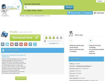 proxifier.en.downloadastro.com screenshot