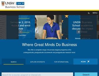 business.unsw.edu.au screenshot