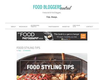 foodbloggerscentral.com screenshot