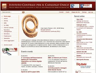 Main page screenshot of iccu.sbn.it