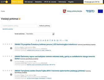 Main page screenshot of cvpp.lt
