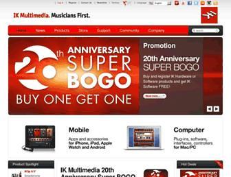 ikmultimedia.com screenshot