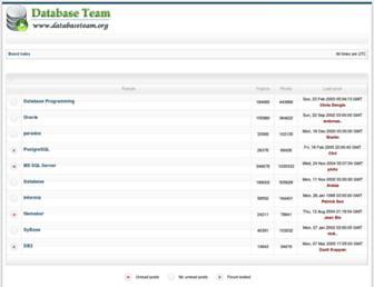 databaseteam.org screenshot