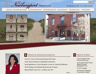 cityofnewburyport.com screenshot