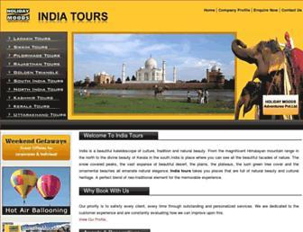 Main page screenshot of india-tours.net