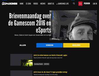 Main page screenshot of gamekings.tv