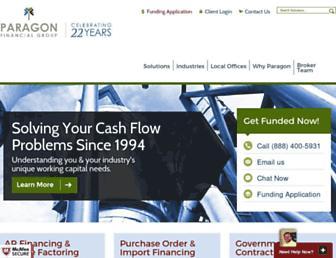 paragonfinancial.net screenshot