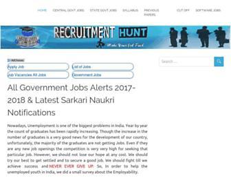recruitmenthunt.com screenshot