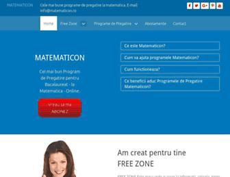 matematicon.ro screenshot