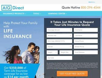 aigdirect.com screenshot