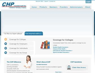 consolidatedhealthplan.com screenshot