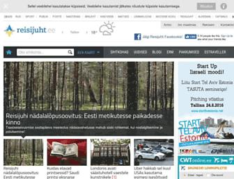 Main page screenshot of reisileidja.delfi.ee