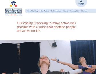 Main page screenshot of efds.net