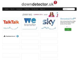 downdetector.co.uk screenshot
