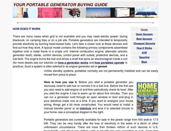 portable.generatorguide.net screenshot