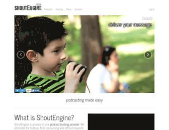 shoutengine.com screenshot