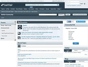 community.betfair.com screenshot