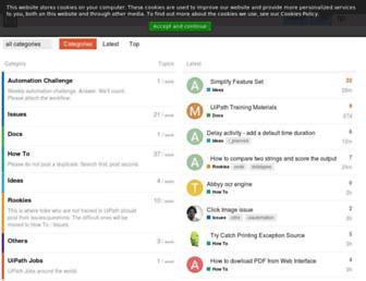 forum.uipath.com screenshot