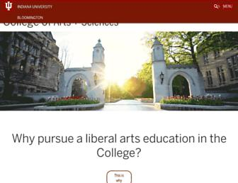 college.indiana.edu screenshot