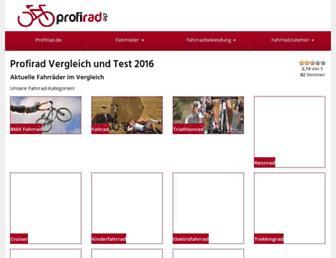 Main page screenshot of profirad.de
