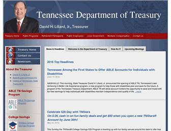treasury.tn.gov screenshot