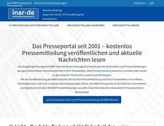 Main page screenshot of inar.de