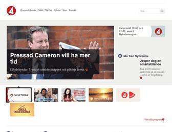 Main page screenshot of tv4.se