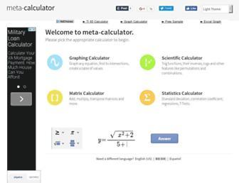 Thumbshot of Meta-calculator.com