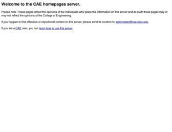 homepages.cae.wisc.edu screenshot