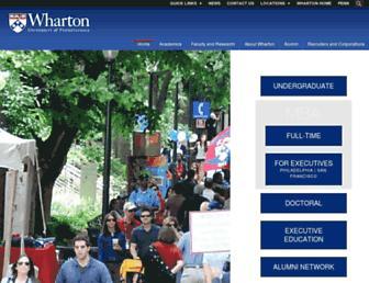 wharton.upenn.edu screenshot