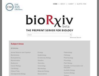 biorxiv.org screenshot