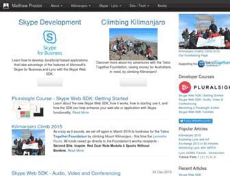 matthewproctor.com screenshot