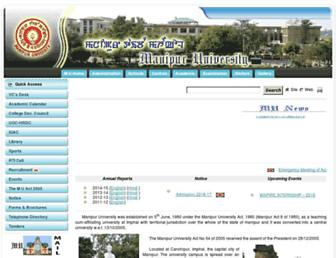 manipuruniv.ac.in screenshot