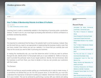 Main page screenshot of rhodes-greece.info