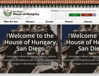 Main page screenshot of sdmagyar.org