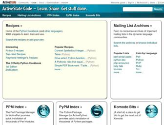code.activestate.com screenshot