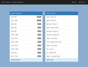 mobile.alphacoders.com screenshot