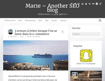 mar1e.fr screenshot