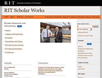 scholarworks.rit.edu screenshot