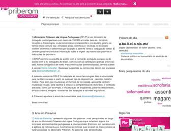 dicionario.priberam.org screenshot