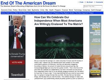 Thumbshot of Endoftheamericandream.com