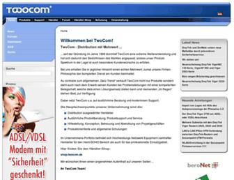 Main page screenshot of 2-com.de