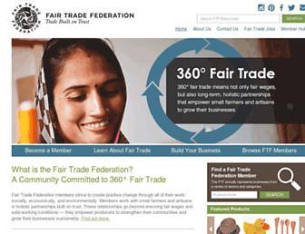 fairtradefederation.org screenshot
