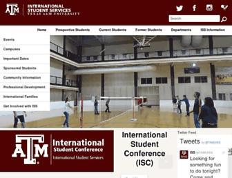 iss.tamu.edu screenshot