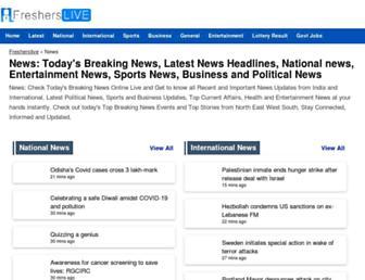 latestnews.fresherslive.com screenshot