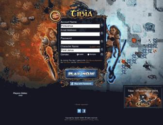 Screenshot for tibia.com