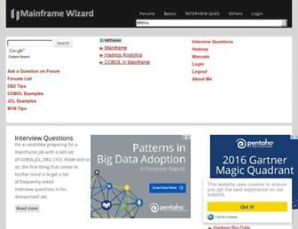 mainframewizard.com screenshot