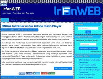 irfanweb.com screenshot