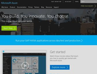 Thumbshot of Azure.com