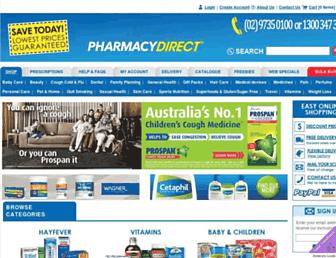 pharmacydirect.com.au screenshot